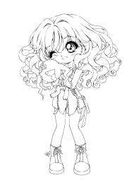 Small Picture Anime Girl Coloring Pages