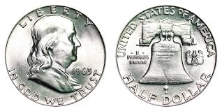 1963 D Franklin Half Dollar Liberty Bell Coin Value Prices