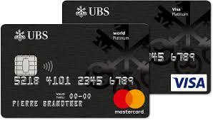 ubs platinum cards