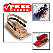 details about flexible flyer premium baby sleigh toddler boggan wooden pull sled for kids