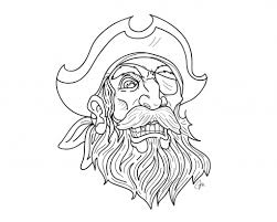 Pirate Tattoo Beard And Mustache With Gold Tooth And Eye Patch ...