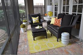 screened porch flooring brick