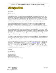 Sample Questionnaire Cover Letters Survey Cover Letter Sample Physician Assistant Cover Letter