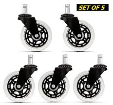 office chair caster wheels set of 5 heavy duty safe for all