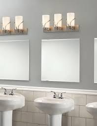bathroom pendant lighting ideas. Bathroom Interior Design With Vanity Modern Triple Funnel Tube F Glass Wall Lights Above Square Mirror Pendant Lighting Ideas E