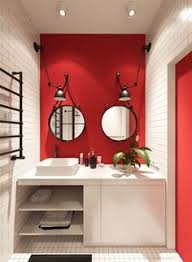 Image Small Small Apartments That Rock Uncommon Color Schemes with Floor Plans Pinterest 80 Best Red Bathrooms Images Bathroom Ideas Bathroom Red Bathroom