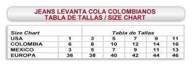 Size Chart Tabla De Tallas Www Annamarye Com In 2019