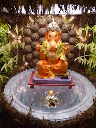 ganpati decoration indian festival