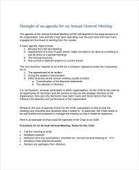 Annual Meeting Agenda Format Ukranagdiffusion Delectable Business Meeting Agenda Format