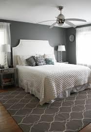 interior design bedroom color ideas grey wall white duvet