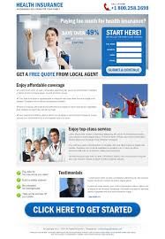 previous next clean health insurance free quote lead capture landing page