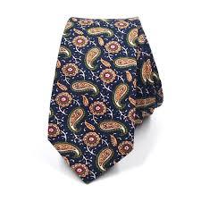 <b>Paisley</b> Medallion Indigo <b>Tie</b> - Art of The <b>Gentleman</b>