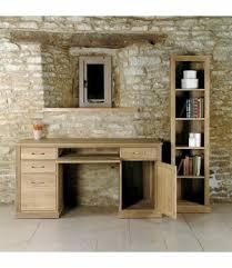 mobel oak hidden twin. Mobel Modern Design Oak Twin Pedestal Computer Desk Hidden
