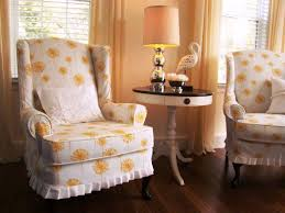 Living Room Chair Slipcovers Colorful Parson Chair Covers Energizing Energetic Room Designs