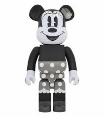 Medicom Toy Bearbrick Minnie Mouse Black And White - Bearbrick Mickey Mouse  90th Anniversary   Transparent PNG Download #1439416 - Vippng