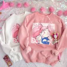 Pink/White <b>Sailor Moon</b> Chibi Usa <b>Printing</b> Sweatshirt CP1711542