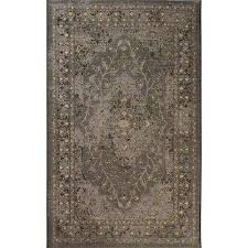 palazzo black cream 5 ft x 8 ft area rug