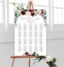 Office Seating Chart Template Wedding Seating Chart Template Fully Editable Wedding