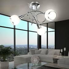 Esszimmer Lampe Decken W 9 Led Design Glas Satiniert Living