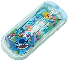 THERMOS lunch <b>trio</b> set <b>Disney Stitch</b> [spoon fork chopsticks] Light ...