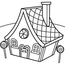 Gingerbread House And Lollipop Coloring Page Pages Design Ideas