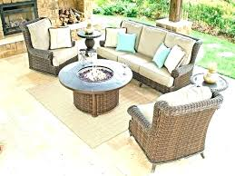 fire pit dining table set patio with tables and chairs gas