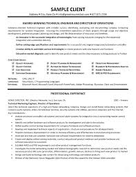 Technical Resume Sample Pdf Technical Engineer Resume Technical