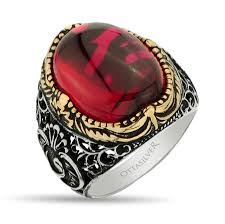 Ruby Stone Gold Ring Design Ruby Stone Men Silver Ring