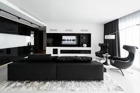 Black and white chairs living room Modern 14 Designer Geometrix Interior Design Ideas 30 Black White Living Rooms That Work Their Monochrome Magic