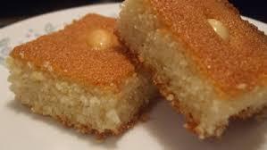 Harissa Harisa Haresa Arabic Semolina Cake Recipe Genius Kitchen