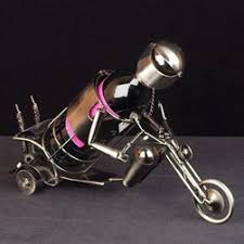 motorbike wine bottle holder home bar and kitchen gifts and accessories funky fun