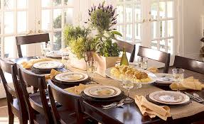 Decoration: Cute Thanksgiving Decoration Idea For Dining Table Using Small  Plants On Pots   Beautiful