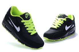 nike shoes air max black 90. nike womens green black white air max 90 running shoes fluorescent new