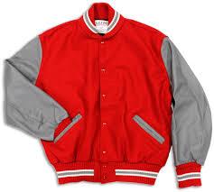 Delong Jacket Size Chart Varsity Letterman Jacket W Whiting Collar