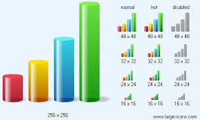3d Chart Vector 3d Bar Chart Icon Image Large Vector Icons