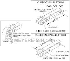 meyer e 58h com dedicated to meyer e 58h snow plow pumps part to upgrade from an e 47 e 57 or e 60 you must drill a new hole as shown in the diagram below