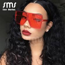 <b>2019 Oversized Square Sunglasses</b> Women New Luxury Brand ...