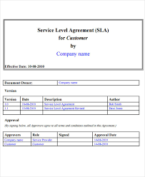 help desk service level agreement template 22 images of it service level agreements template eucotech com