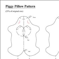 Pillow Sewing Patterns Awesome Piggy Pillow Free Sewing Pattern Tutorial Craft Passion Page