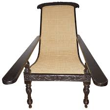 Rare Ebony Wood Late 19th Century Plantation Chair Anglo Indian