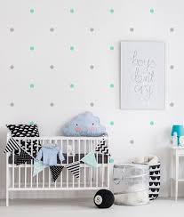 mini polka dot decals wall stickers mint grey