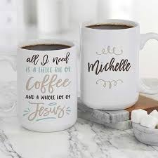 Coffee and jesus addict, blog at wordpress.com. A Little Bit Of Coffee And A Lot Of Jesus Large Coffee Mug Religious Gifts