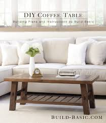 build a diy coffee table building plans by buildbasic build basic