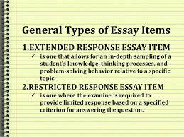 essays 4 classification of essay examination