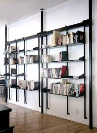 face design fabrication log media studio 2 custom steel wall book shelves
