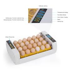 this automatic smart incubator which can hold 24 eggs at one time is suitable for hatching en duck quail eggs other poultry and bird eggs