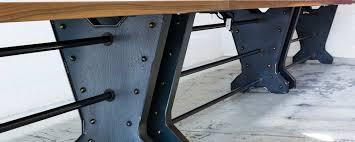 metal industrial furniture. Walnut \u0026 Steel Conference Table Metal Industrial Furniture I