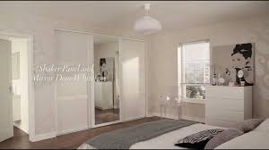 ... Engaging Images Of White Sliding Closet Doors : Divine Modern Girl  Bedroom Decoration Using Mirrored White ...