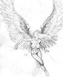 Angel Sketch Angel Drawing Sketch At Paintingvalley Com Explore
