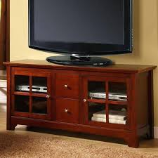 wooden tv stand with glass doors solid wood cabinet oak unit with 3 drawers stands glass